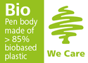 Bio Pen body made of > 85% biobased plastic
