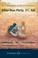After-Run-Party am 21.07.2018