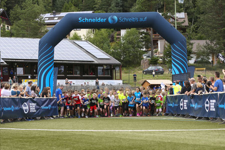 Aufstellung am Start des Youngster-Run 2018