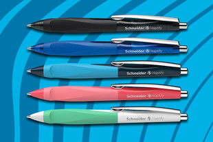 Ballpoint pen Haptify - in two new trend colours: Living Coral and Neo Mint.