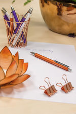 Ballpoint pen Perlia in bronze is an excelent decoration on every desk
