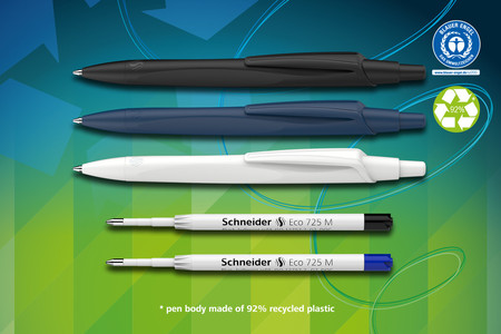 Ballpoint pen Reco ist the first ballpoint pen awarded with the eco label Blue Angel.