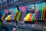 Colourful Schneider pens in the corporate shop-in-shop display