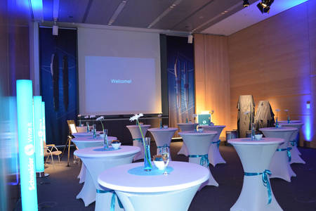 Event room for the product introduction of the rollerball One