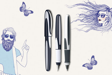 "High-quality fountain pen and cartridge roller with the catchy name ""Ray""."