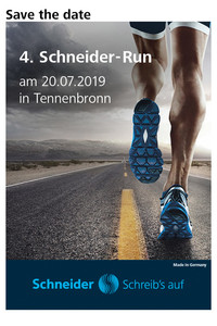 Save the Date Flyer für den Schneider-Run 2019