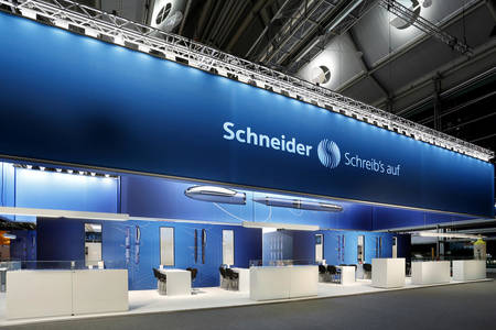 Schneider booth at the Paperworld 2015 2