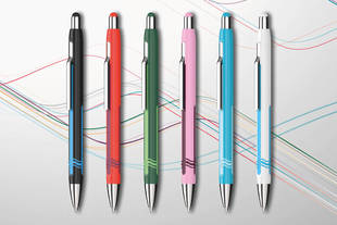 The new ballpoint pen Epsilon is available in six distinctive colours