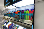 There is no better way to present the colourful Schneider pens than is its shop-in-shop display