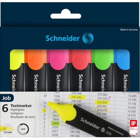 Job Wallet 6 pieces Multipack von Schneider
