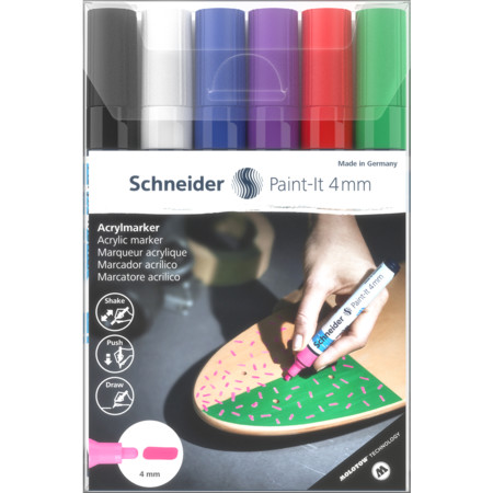Paint-It 320 4 mm wallet 1 Multipack Line width 4 mm Acrylic marker von Schneider