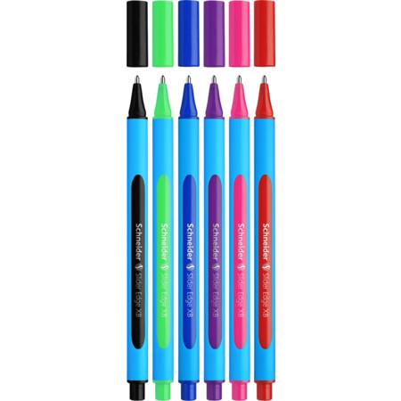 Ballpoint Pens Multipack 6 Pink Green Purple
