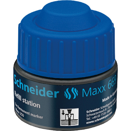 Refill station Maxx 669 blue Accessories von Schneider