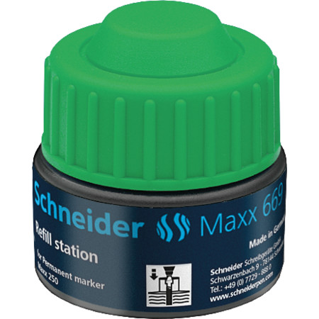 Refill station Maxx 669 green Accessories von Schneider