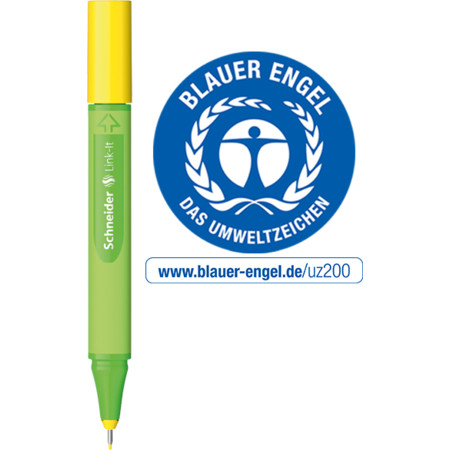 Link-It 0,4 golden-yellow Line width 0.4 mm Fineliners and fibrepens von Schneider