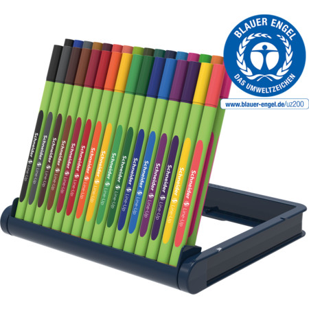 Line-Up pencil case stand 32 pieces Multipack Line width 0.4 mm Fineliners and fibrepens von Schneider
