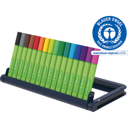 Link-It 0,4 pencil case stand 16 pieces Multipack Line width 0.4 mm Fineliners and fibrepens von Schneider