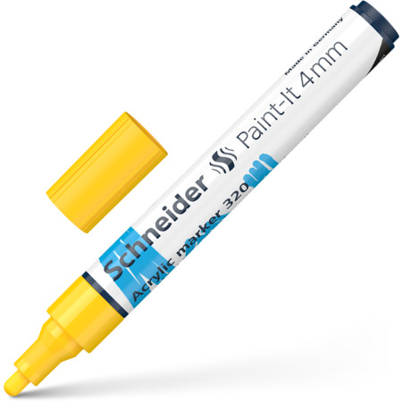 Paint-It 320 4 mm yellow Line width 4 mm Acrylic marker von Schneider
