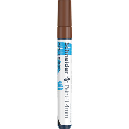 Paint-It 320 4 mm brown Line width 4 mm Acrylic marker von Schneider