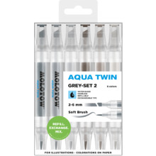 Aqua Twin 1 mm/2-6 mm Grey-Set 2 MP