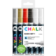 Chalk Marker 4 mm Basic-Set 1 MP