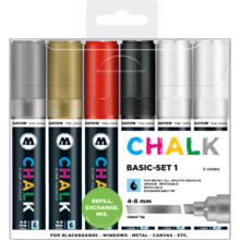 Chalk Marker 4-8 mm Basic-Set 1 MP