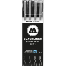 Blackliner Set 1 4er Etui 0.05 mm-0.4 mm MP