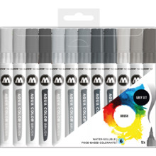 Aqua Color Brush Grey-Set
